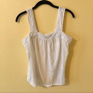 Old Navy white tank top blouse